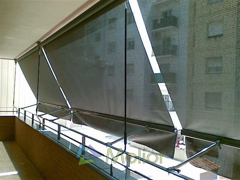 Melior toldos y cortinas techos for Piezas para toldos